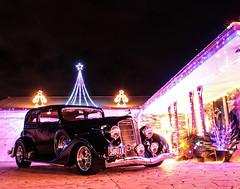 Christmas Lights & Buicks (Nikki Em.) Tags: christmas longexposure cars lights buick australia christmaslights oldcars