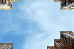 look up (pedro smithson) Tags: china travel sky geometric clouds buildings nikon asia framed center lookup frame framing macau pearlriverdelta pedrosmithson