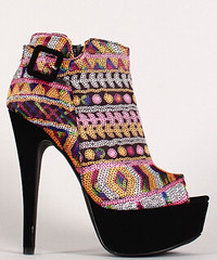 "Multicolor sequin round toe ankle bootie black multi • <a style=""font-size:0.8em;"" href=""http://www.flickr.com/photos/64360322@N06/15542525307/"" target=""_blank"">View on Flickr</a>"