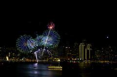 NYE Fireworks (Bob Nastasi) Tags: sanfrancisco california bridge fireworks nye baybridge newyearseve happynewyear 2015 d800e