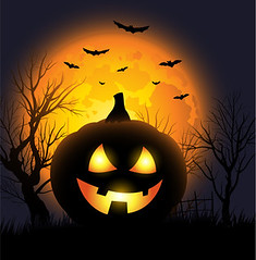 Halloween background (mike_cbo1982) Tags: autumn orange brown mist canada black fall halloween smile face leaves misty night forest dark pumpkin landscape jack design scary holidays symbol fierce jackolantern ominous background fear ghost border bat decoration evil carving spooky flame frame horror lantern flaming autumnal isolated