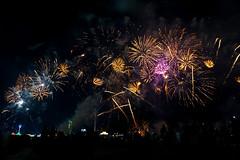 Fireworks (katie_mccolgan) Tags: sky colors night contrast dark amazing colorful fireworks smoke uae celebration abudhabi bombs sparks nationalday