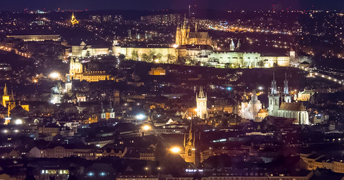 Prague castle from the television tower