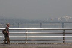 Bridge over Teadong river (ronniedankelman) Tags: bridge river asia stadium korea mayday northkorea azie pyongyang rivier staion noordkorea kimjongun teadong