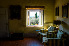 Agriturismo Podere San Quirico (alliance1) Tags: italy color window chairs tuscany agriturismo 2014 fujix100s
