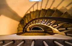 Spirals (Franco Beccari) Tags: world city trip travel vacation italy white holiday black color colour tourism nature yellow stairs spiral photography nikon europe steps nikkor staricase spiralstairs veneto possagno d600 nikond600