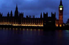 Houses of Parliment (tomlangley) Tags: london film thames night 35mm river 50mm lights big ben pentax housesofparliment