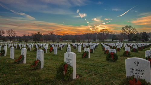 Wreaths Across America Sunset at Arlingt by joseph.gruber, on Flickr