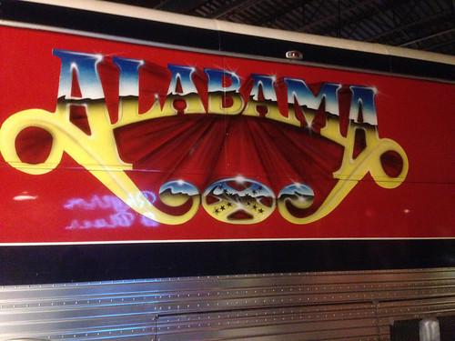 Tour bus for the band, 'Alabama'