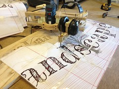 A recent commission for GlastonBees... Making a sign with a pantograph