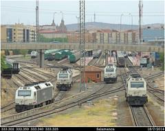 Reunión (Trenes2000) Tags: tren trenes ambiente 333 papelero salamanca estacion bioetanol primas diesel 3333 trenes2000 aisladas vossloh