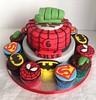Super Hero Cake (LizzieQ Creations) Tags: cake super hero