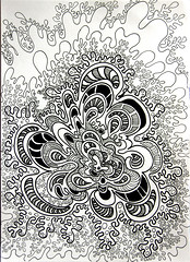 Brain Cell (kennardandrea) Tags: blackandwhite floral lines drawing patterns curves curls doodle paisley shading zentangle penandpencil zendoodle