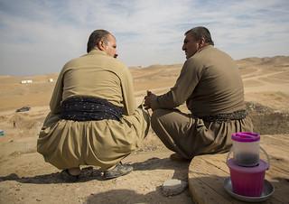 Peshmergas On The Frontline, Kirkuk, Kurdistan, Iraq