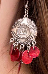 Sunset Sightings Red Earrings K1 P5920A-3
