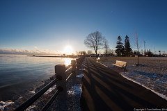 Tranquil & Cold (Vaughan Weather) Tags: winter ontario canada cold weather shoreline steam fisheye lakeontario bowmanville 5dmarkiii canon815mmf4