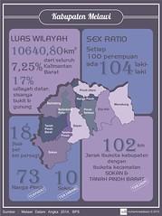 Kabupaten Melawi : Luas & Penduduk (muhammadabaziz) Tags: sex luas statistik ratio jumlah wilayah bps melawi penduduk kepadatan infografis