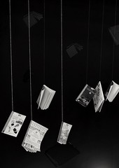 La noche de los libros colgantes en Bogot / The night of hanging books in Bogot (Juan David Bastidas Blanco) Tags: bogota books libros