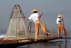 Fishermen Of Inle lake (Alan1954) Tags: two holiday water boats asia fishermen burma myanmar 2016 platinumheartaward platinumpeaceaward