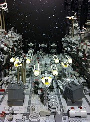 Lego MOC Mini Battle of Yavin aka Death Star Trench (erman_arzk) Tags: starwars lego deathstar turbolaser ywingfighter moc afol xwingfighter battleofyavin starwarsepisode4