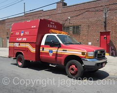 FDNY Plant Ops Vehicle, Red Hook, New York City (jag9889) Tags: auto nyc newyorkcity red usa plant ny newyork ford car brooklyn truck automobile unitedstates outdoor unitedstatesofamerica transportation vehicle firefighter operation redhook fdny firedepartment newyorksbravest bravest 2016 firstresponder kingscounty newyorkcityfiredepartment firedepartmentofthecityofnewyork jag9889 20160528