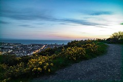(rae_johnson) Tags: sunset sea night lights town aberystwyth