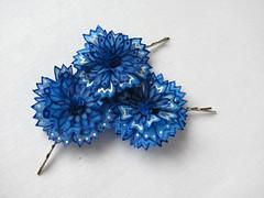 Blue cornflower hair pins (simutes) Tags: blue wedding white hair bride accessories bridal bobbypins hairpins cornflowers bridalhairpins cornflowerhairpins