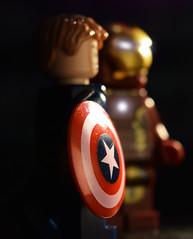 You Don't Deserve That Shield (Andrew Cookston) Tags: macro film comics movie photography lego ironman civilwar marvel captainamerica marvelcomics andrewcookston