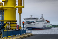 The Arrival Of The Ferry (dietmar-schwanitz) Tags: ferry port harbour hafen rostock lightroom ferryport fhrhafen fhrschiff roroferry dietmarschwanitz nikond750 nikonafsnikkor24120mmf40ged fhrschiffberlin