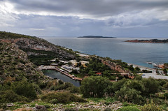 Vouliagmeni Pool Spa (n.pantazis) Tags: sea lake pool clouds relax landscape day cloudy attiki vouliagmeni attika pentaxk30