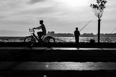 Long for nice weather... (Emre .) Tags: street sea bw weather bike fun fishing good streetphotography documentary enjoy miss bnw sokak beststreet documentinglife d7100