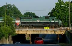 PAL's Louisville Yard Job (Jeff Carlson_82) Tags: railroad yard train kentucky ky overpass railway louisville pal railfan regional oakst emd gp402 ssw 3807 paducahlouisville lcl3