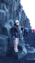 Basalt columns, Reynisfjara Beach (the tinz) Tags: iceland south coast southcoast black sand beach spray basalt column