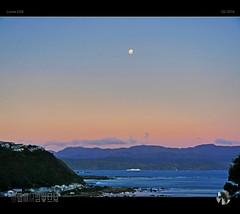 Sailor Moon (tomraven) Tags: sunset sky moon mountains water ferry lumix coast ship fullmoon moonrise interislander gx8 pencarrow tomraven aravenimage q22016