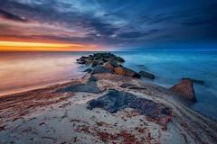 Mole (dubdream) Tags: mole rock balticsea sea ocean schleswigholstein germany heiligenhafen steinwarder sky aftersunset cloud longexposure colorimage outdoor nikon d800 nature beach light seascape