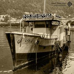 La vecchia nave (filippi antonio) Tags: old italy lake como lago boat italia ship nave lombardia battello vecchio viraggio comolake lagodicomo seppia monocromatico