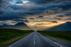 The Road to Glencoe, Scotland (erwinberrier) Tags: road sunset mountains scotland highlands ngc glencoe scotish scotishhighlands