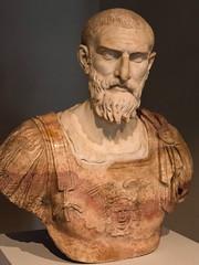 Ancient Rome. The general Tiberius Claudius Pompeianus, son-in-law of Emperor Marcus Aurelius, 2nd century AD (mike catalonian) Tags: emperor soninlaw marcusaurelius ancientrome 2ndcenturyad antoninedynasty tiberiusclaudiuspompeianus