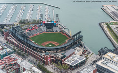 Aerial AT&T Park (DSC03692) (Michael.Lee.Pics.NYC) Tags: sanfrancisco bridge architecture marina stadium sony aerial giants chinabasin mlb mccoveycove majorleaguebaseball attpark seaplaneadventures fe55mmf18 a7rm2