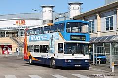 Stagecoach East Midlands Volvo Olympian S166RET (16466) n Scunthorpe Bus Station, 14/07/2016 (Scatmancraig1974) Tags: s166ret s166 ret volvo olympian alexander rltype rl type stagecoach east midlands 166 16466 scunthorpe bus station double deck decker craig schofield scatmancraig midland