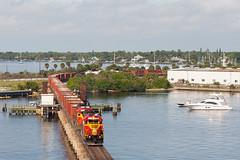 fec_109_stuart_tele (captionhead) Tags: florida stuart railroadbridge 109 manifest emd sd402 stlucieriver moveablebridge floridaeastcoast