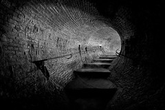 Rising up (Subversive Photography) Tags: longexposure blackandwhite bw brick london river dark steps londonunderground underworld subterranean sewer stormdrain riverfleet stygian cimmerian