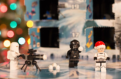 Lego Star Wars Advent Calendar (2014) (JasonMK) Tags: christmas snow tree lights star starwars advent lego bokeh wars