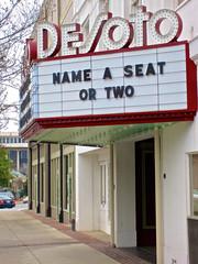Desoto Theatre, Rome, GA (Robby Virus) Tags: cinema rome sign georgia movie marquee theater little theatre historic foundation movies artdeco desoto