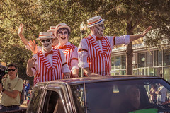 Barbershop Zombies (Lee Edwin Coursey) Tags: autumn costumes halloween downtown seasonal parade decatur