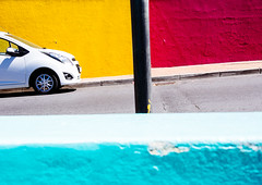 Bo Kaap (miemo) Tags: africa city travel abstract building colors car architecture southafrica spring colorful exterior post olympus capetown pole omd bokaap em5 panasonic1235mmf28