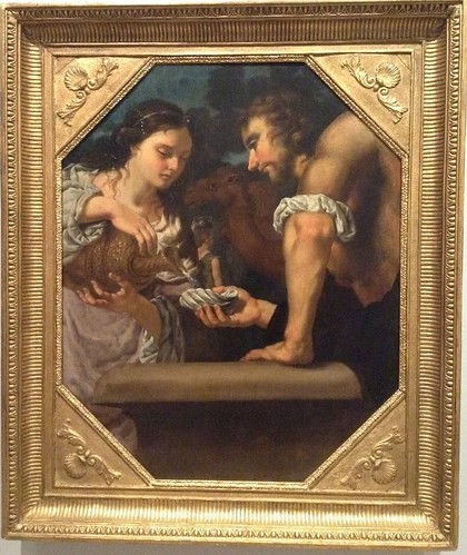 El encuentro de Eleazar y Rebeca en el pozo.