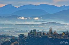 Luces de otoo... (E.M.Lpez) Tags: landscape andaluca torre paisaje noviembre campo otoo landschaft niebla horizonte jan 2014 brumas otoal alcallareal atalalla