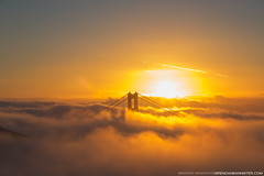 Sunrise over the Golden Gate Bridge, San Francisco (BrendanBannister) Tags: bridge sunset ski sunrise island golden bath gate san francisco long exposure mask filter pools lee sutro killers bando gnd tressure