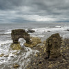 Rain at Whitburn Arch (Katybun of Beverley) Tags: seascape rock clouds landscape tide northumberland rockformation whitburn southtyneside whitburnarch